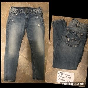 Silver Avery Super Skinny Jeans